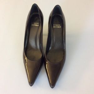 STUART WEITZMAN Brown Patent Leather Pumps Size 5